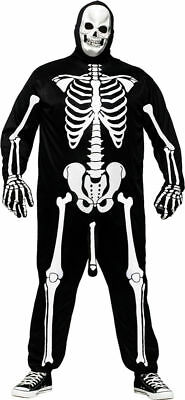 Humorous Halloween Costumes (Morris Costumes Men's Comical Skeleboner Humor Adult Costume Plus Size.)