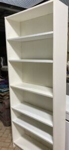Large white bookcase with 6 shelves