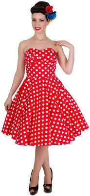 Dot Bandeau (Dolly and Dotty MELISSA Bandeau POLKA DOT Punkte SWING Dress Rot-Weiß Rockabilly)
