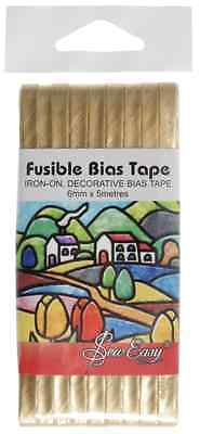 Sew Easy Quality Gold Fusible Bias Tape 5m x 6mm