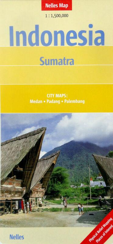 NEW 2005 MAP of INDONESIA--SUMATRA, Nelles~Details of Medan, Padang, Palembang
