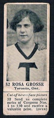 1925 Dominion Chocolate Sports Card #52 Rosa Grosse (Basketball) (Basketball Chocolates)