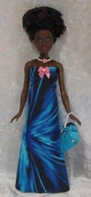 Made To Fit PETITE BARBIE Fashionistas 35 Clothes, Dress, Purse, Necklace Set - $5.25