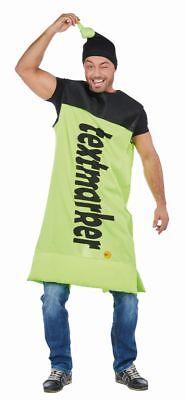 Rub - Unisex Kostüm Textmarker in gelb mit Mütze - Textmarker Kostüm