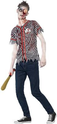Zombie Baseball Spieler Halloween Kostüm 12-14 Jahre (Baseball Zombie Kostüm)