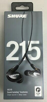 NEW / SEALED SHURE SE215-K BLACK SOUND ISOLATING IN-EAR BUDS EARPHONES 3.5 MM