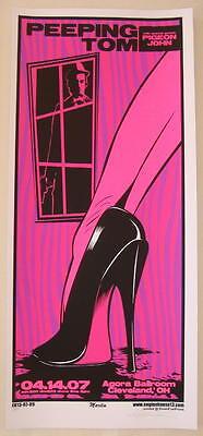 2007 Peeping Tom - Silkscreen Concert Poster Martin s/n