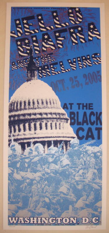 2005 Jello Biafra & Melvins - DC Silkscreen Concert Poster by Cardinal Design