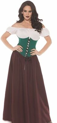 Beer Maiden Costume (Tavern Maiden Costume Renaissance Beer Wench Oktoberfest Maid - L 14-16)