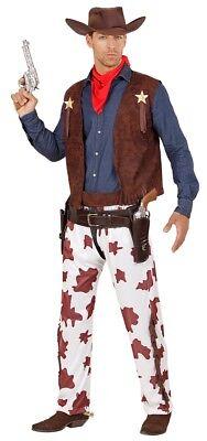Lance Wild West Cowboy Kostüm für Herren NEU - Herren Karneval Fasching Verkleid ()