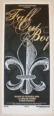 2006 Fall Out Boy - Paris Silkscreen Concert Poster S/N by Mike Martin