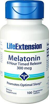 Life Extension Melatonin 6 Hour Timed Release 300 mcg - 100 VTablets