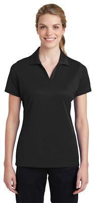 Sport-Tek Women's Polyester Self Fabric Collar Open Placket Polo Shirt. LST640