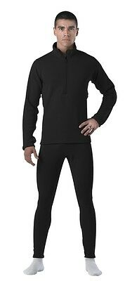 Rothco Gen III Level II Black Anti Microbial Long Tactical Thermal Underwear