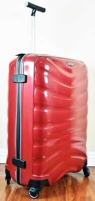 "Samsonite Firelite 75cm/28"" CHILI RED Spinner Luggage 4-wheeled 49959-1198 Demo"