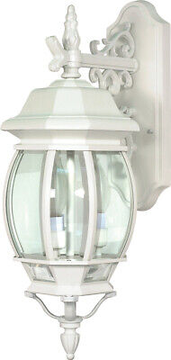 Nuvo Lighting 60/891 Central Park 3 Light 23 inch White Outdoor Wall -