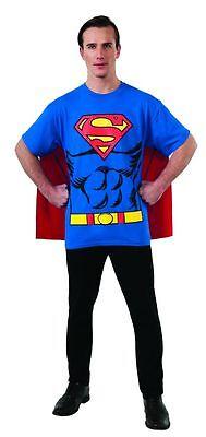 Rubies Dc Comics Superman Kent Erwachsene Herren Halloween Kostüm T Hemd 880470