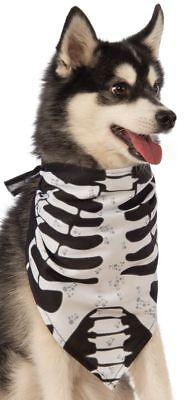 Tier Haustier Hund Katze Skelett Hals Bandana Halloween Kostüm Kleid Outfit