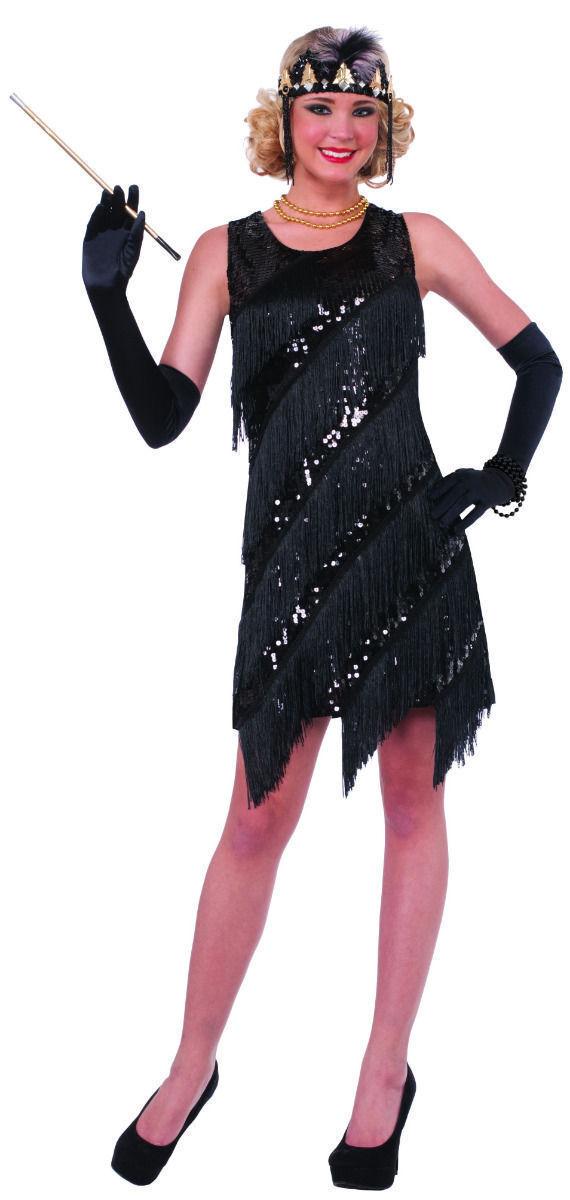 C20R Red Fashion Flapper Chicago Gatsby 1920s Fancy Dress Women Adult Costume