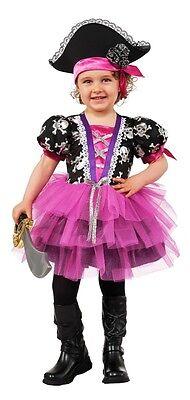 Pirate Princess Costume Toddler (Child Girls Toddler Pink Pirate Princess Tutu Costume - XS 2-4, S 4-6, M 8-10)