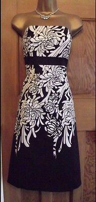 ELEGANT ❤️ COAST Size 8 Black & Cream Party Wedding Evening Dress Best