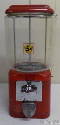 Oak Acorn Bulk Vending Machine 5 Cent machine 9.5lb glass globe original