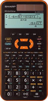 Sharp EL-W531 XG YR Orange Schulrechner Solar Taschenrechner natürliche