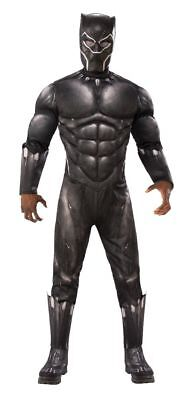 Adult Men's Black Panther Halloween Costume w/muscle chest - STD and XL Sizes - Black Halloween Costumes For Men