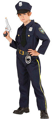 Police Officer Kent Kinderkostüm NEU - Jungen Karneval Fasching Verkleidung Kost