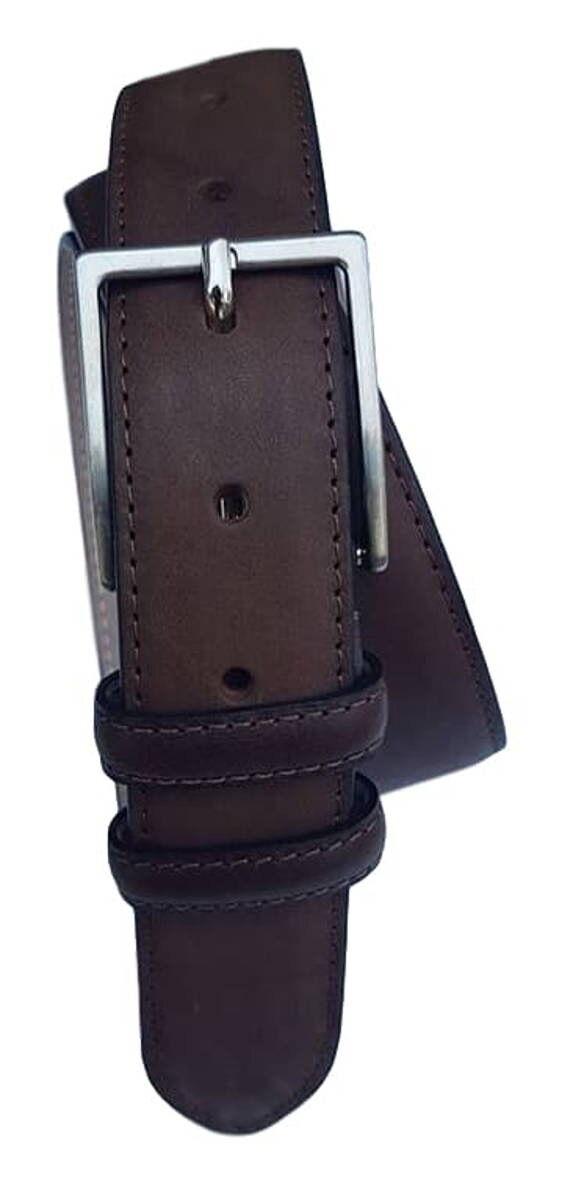 Cintura da Uomo in pelle Bovina foderata in Pelle alt 3,5 cm (4 varianti colore)