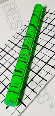 1 Diameter 12 Inch Long Clear Fluorescent Green Acrylic Plexiglass Rod 25.7mm
