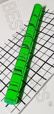 1 Diameter 12 Inch Long Clear Fluorescent Green Acrylic Plexiglass Rod 25.7mm