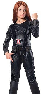 Deluxe Black Widow Natasha Costume Girls Childs Avengers - S 4-6 M 8-10 L 12-14 - Black Widow Girl Costume
