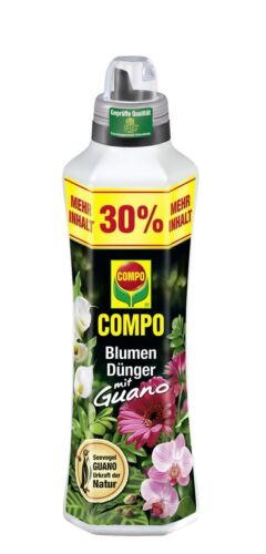 Compo Blumendünger mit Guano Universaldünger 1,3 Liter Flüssigdünger