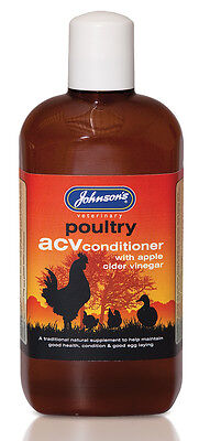 Johnson's Poultry ACV Conditioner 500ml For good health, condition & egg laying
