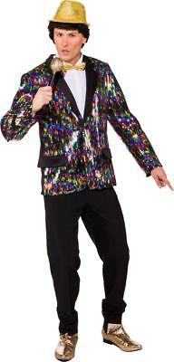 Orl - Herren Kostüm Disco Jacke mit Pailletten - Jacke Herren Kostüm