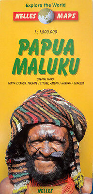 NEW 2005~MAP of PAPUA MALUKU Indonesia, Nelles~Details-Banda Islands,Ternate +