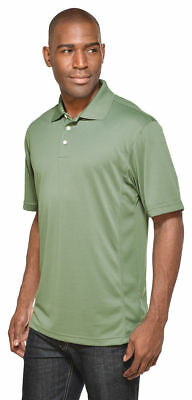 Tri Mountain Mens New Polyester 3 Button Placket Pique Golf Polo Shirt  158