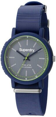 Superdry Men's Analogue Quartz Watch with Blue Silicone Strap SYG197U