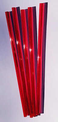 5 Pc 38 Od 18 Id Red Clear Translucent Acrylic Plexiglass Tube 12 Inch
