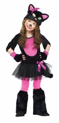 Miss Kitty Costume Cat Catarina Ballerina Tutu Toddler Infant Black - 2T, 4T