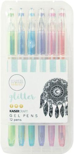 Kaisercraft Kaiser Color Glitter Gel Pens 12Pc - NEW