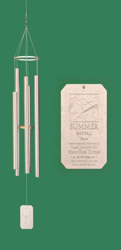 Grace Note Seasonal Harmonizing Chimes® Summer 56 inch Silver Aluminum LSUM