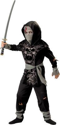 Zombie Ninja Costumes (Morris Costumes Dark Zombie Ninja 2B Child 8.)