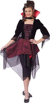 Morris Costumes Girls New Dracula Lady Child Costume Black Red 4-6. FW110632SM