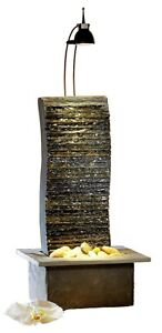 Zimmerbrunnen Seliger® Schieferbrunnen Suna Wasserwand beleuchtet