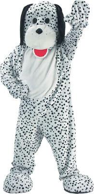 Dalmation Adult Costume (Morris Costumes Adult Unisex Animals Dalmation Mascot Jumpsuit One Size.)
