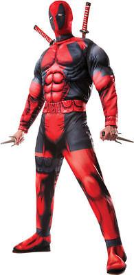 Morris Costume Men's Long Sleeve Marvel Deadpool Complete Costume XL. RU810109XL](Complete Deadpool Costume)