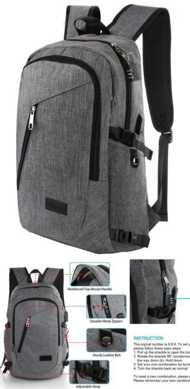 Anti-theft Travel Backpack Business Laptop Book School Bag