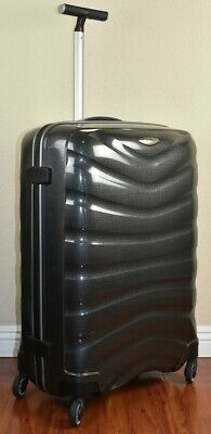 "Samsonite Firelite 75cm/28"" CHARCOAL Spinner Luggage 4-wheeled 49959-1174 Demo"